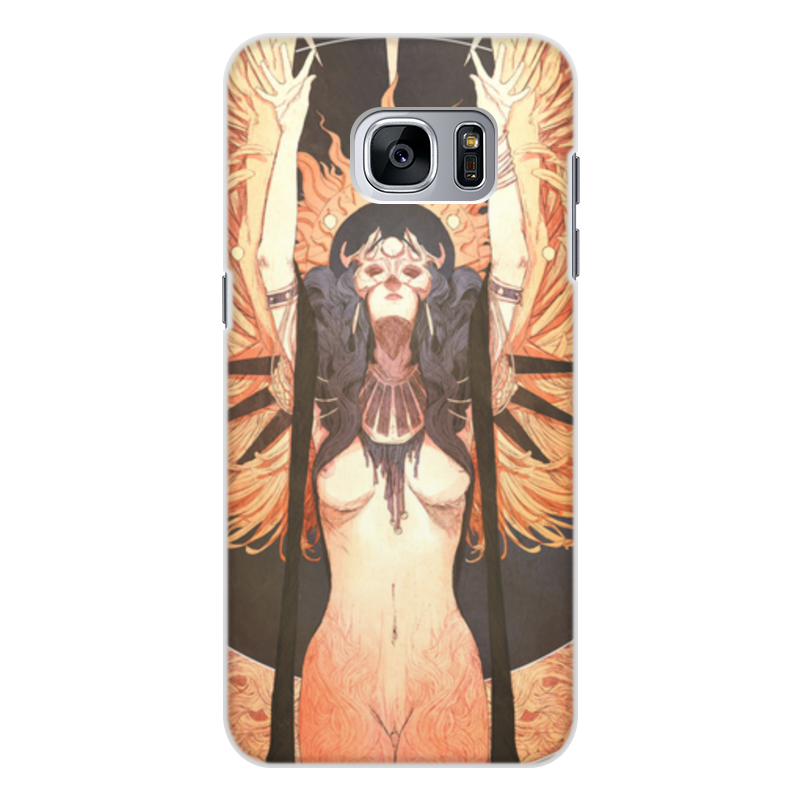 Чехол для Samsung Galaxy S7 Edge, объёмная печать Printio Ангел ночи ночи в роданте