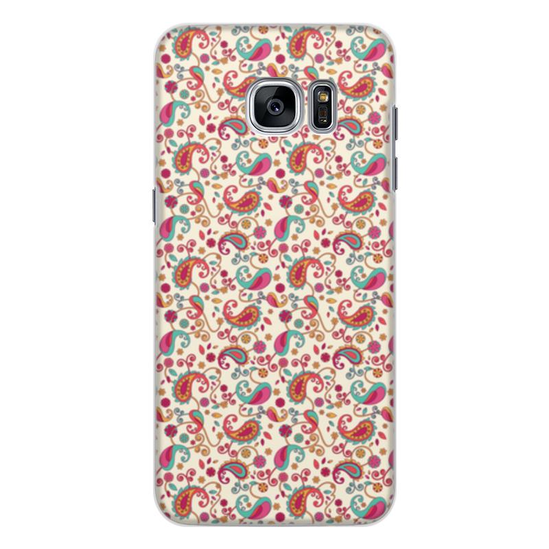 Чехол для Samsung Galaxy S7 Edge, объёмная печать Printio Пейсли (яркий) чехол для samsung galaxy s7 edge объёмная печать printio путь воина