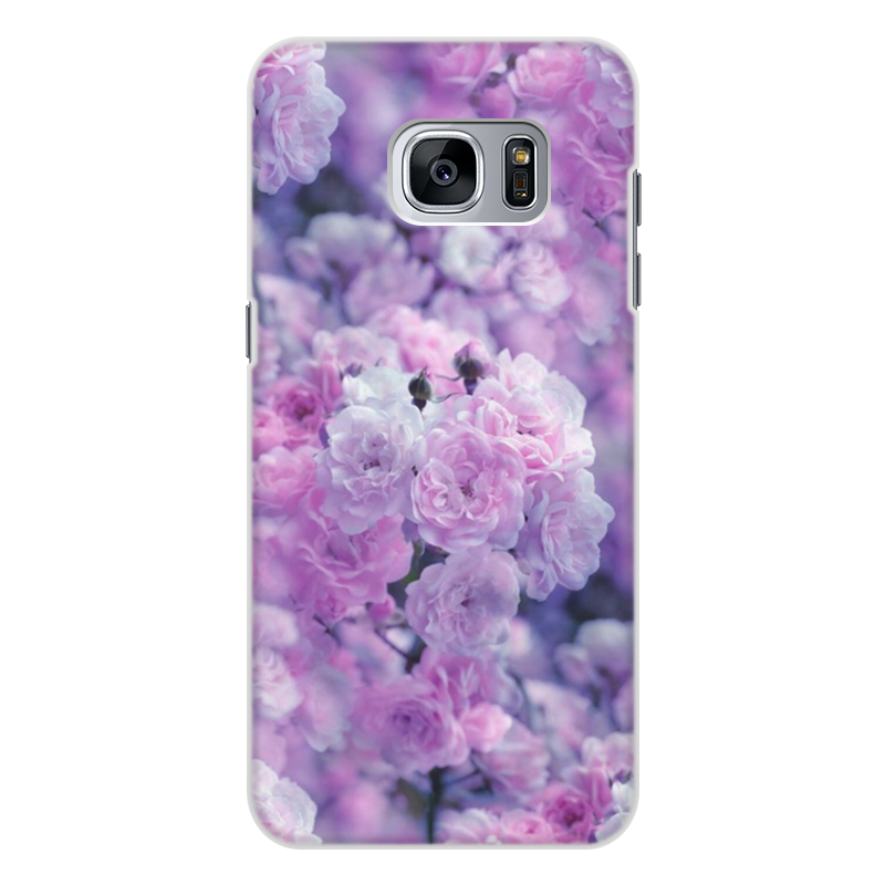 Чехол для Samsung Galaxy S7 Edge, объёмная печать Printio Цветы кейс для назначение ssamsung galaxy s7 edge s7 кошелек бумажник для карт со стендом чехол цветы твердый тпу для s7 edge s7 s6 edge