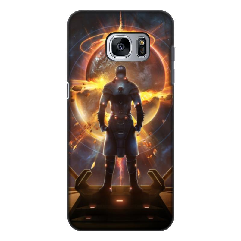 лучшая цена Чехол для Samsung Galaxy S7 Edge, объёмная печать Printio Starpoint gemini warlords
