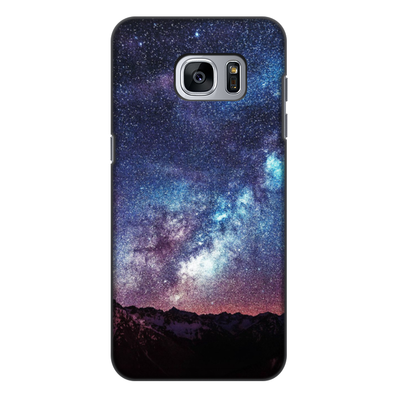 Чехол для Samsung Galaxy S7 Edge, объёмная печать Printio Космос цена и фото