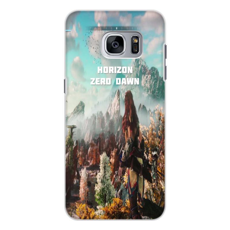 Чехол для Samsung Galaxy S7 Edge, объёмная печать Printio Horizon zero dawn цена