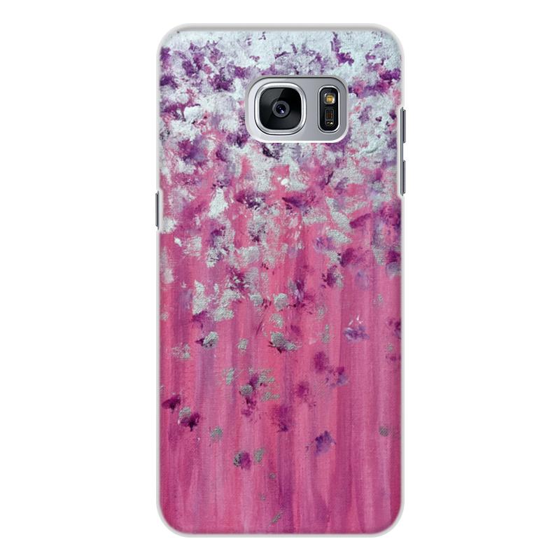 Чехол для Samsung Galaxy S7 Edge, объёмная печать Printio Розовое настроение перья и птицы pattern мягкий тонкий тпу резиновая крышка силиконовый гель чехол для samsung galaxy s7 edge