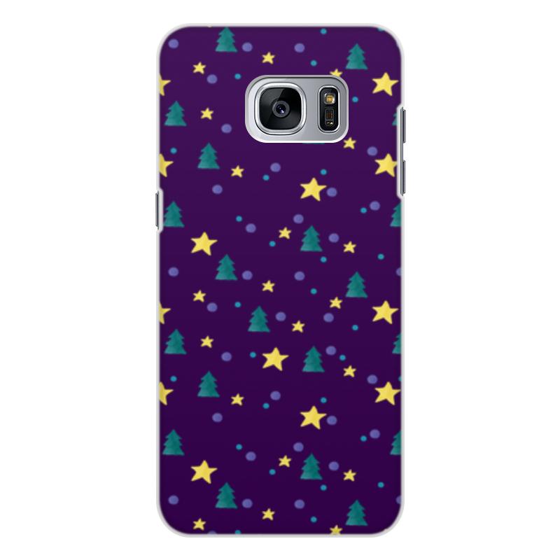 Чехол для Samsung Galaxy S7 Edge, объёмная печать Printio Елки и звезды