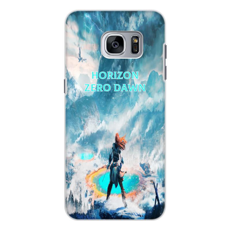 Чехол для Samsung Galaxy S7 Edge, объёмная печать Printio Horizon zero dawn чехол силиконовый последний богатырь для samsung s7
