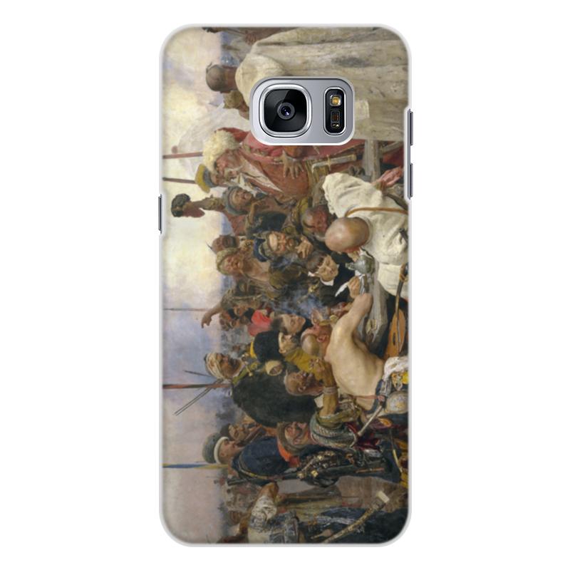 лучшая цена Чехол для Samsung Galaxy S7 Edge, объёмная печать Printio Запорожцы (картина репина)