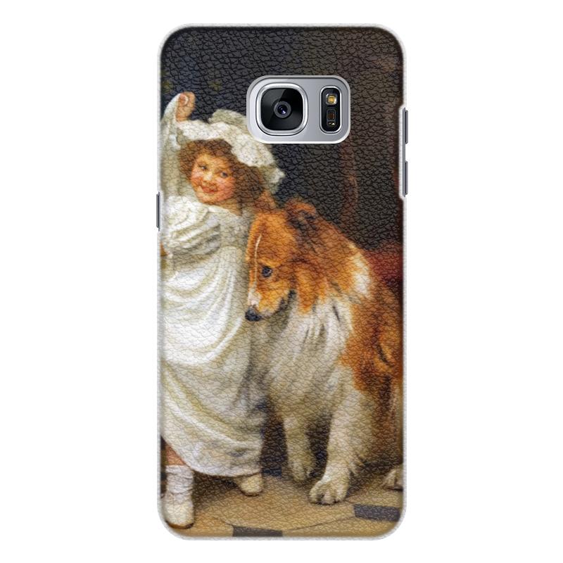 Чехол для Samsung Galaxy S7 Edge, объёмная печать Printio Картина артура элсли (1860-1952) подарочная коробка большая пенал printio картина артура элсли