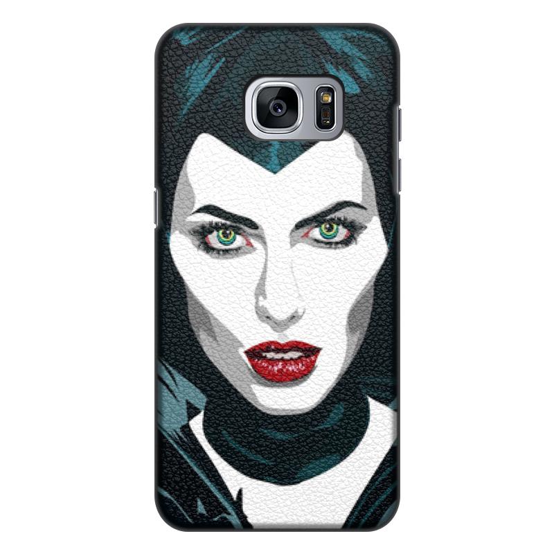 Чехол для Samsung Galaxy S7 Edge, объёмная печать Printio Maleficent (анджелина джоли) стоимость