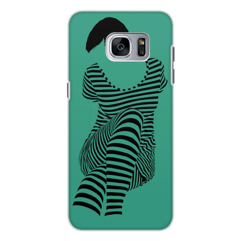 Чехол для Samsung Galaxy S7 Edge, объёмная печать Printio раздвоение личности