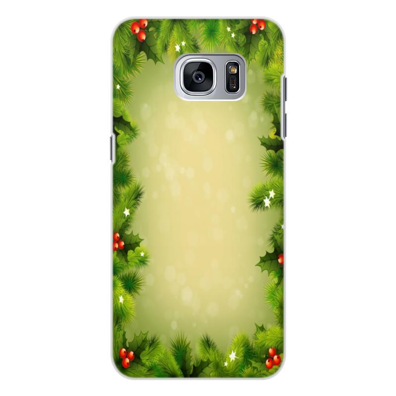 Чехол для Samsung Galaxy S7 Edge, объёмная печать Printio С новым годом! чехол для samsung galaxy s6 edge объёмная печать printio с новым годом