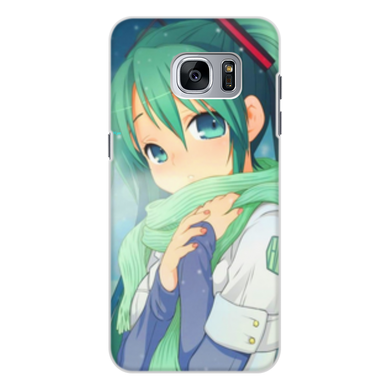 Чехол для Samsung Galaxy S7 Edge, объёмная печать Printio Miku hatsune sush diy custom car cartoon stickers hatsune miku vinyl sticker printing carving protection film car funny graffiti sticker decals