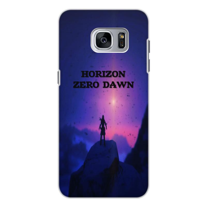 Чехол для Samsung Galaxy S7 Edge, объёмная печать Printio Horizon zero dawn кейс для назначение ssamsung galaxy s7 edge s7 кошелек бумажник для карт со стендом чехол цветы твердый тпу для s7 edge s7 s6 edge