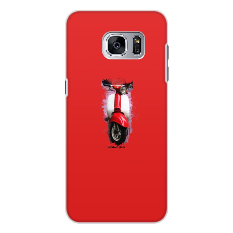 Чехол для Samsung Galaxy S7 Edge, объёмная печать Printio Скутер акустика на скутер по почте наложенным платежом
