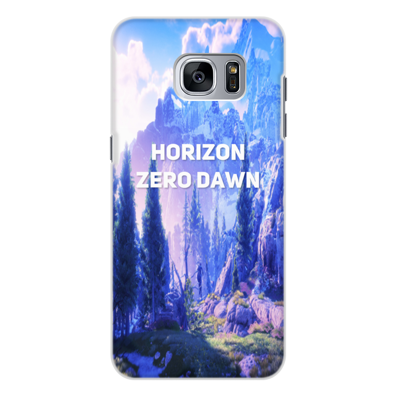 Чехол для Samsung Galaxy S7 Edge, объёмная печать Printio Horizon zero dawn cellular line для samsung galaxy s7