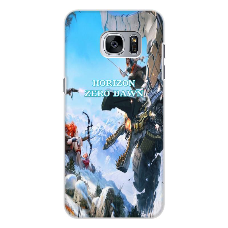 Чехол для Samsung Galaxy S7 Edge, объёмная печать Printio Horizon zero dawn все цены