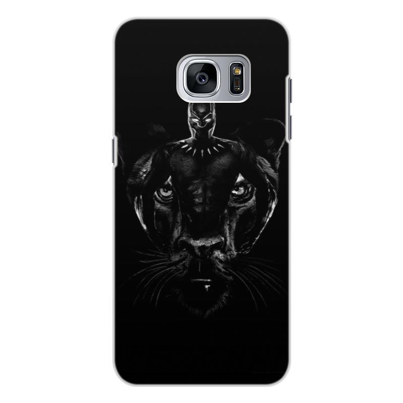 Чехол для Samsung Galaxy S7 Edge, объёмная печать Printio Черная пантера
