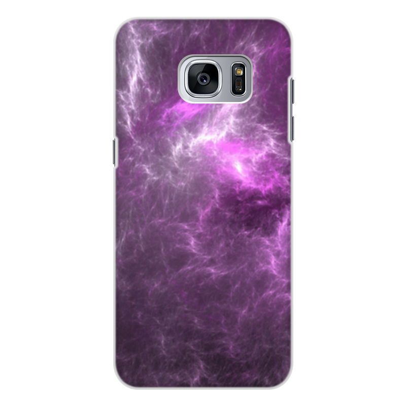 Чехол для Samsung Galaxy S7 Edge, объёмная печать Printio Абстрактный дизайн фиолетовый подсолнечник дизайн кожа pu откидной крышки кошелек карты чехол для samsung galaxy s7 edge g9350