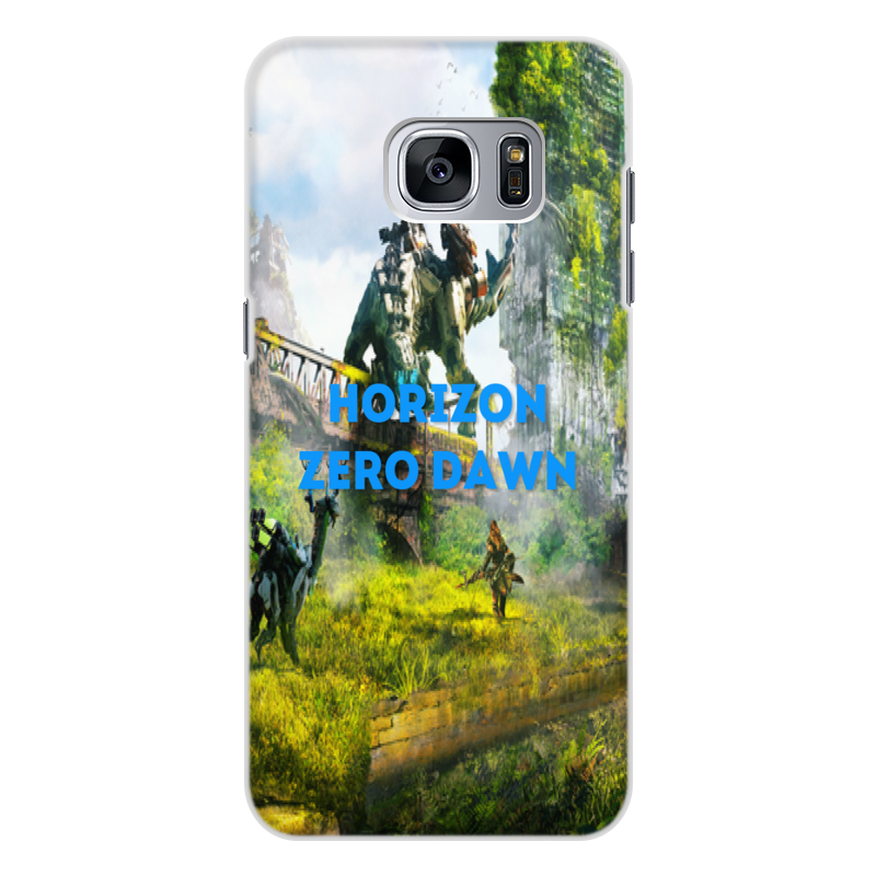 Чехол для Samsung Galaxy S7 Edge, объёмная печать Printio Horizon zero dawn