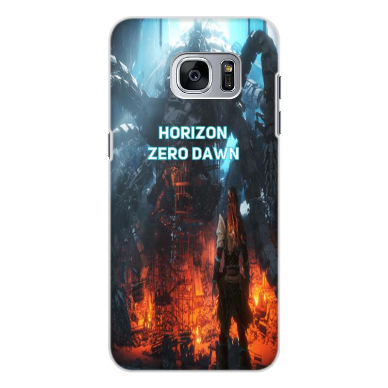 Чехол для Samsung Galaxy S7 Edge, объёмная печать Printio Horizon zero dawn смартфон samsung galaxy s7 edge