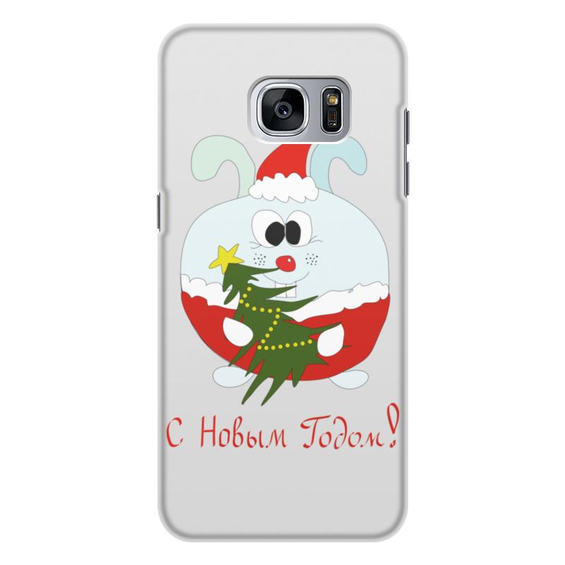 Чехол для Samsung Galaxy S7 Edge, объёмная печать Printio Новогодний заяц настенная плитка porcelanosa liston chelsea camel 31 6x90
