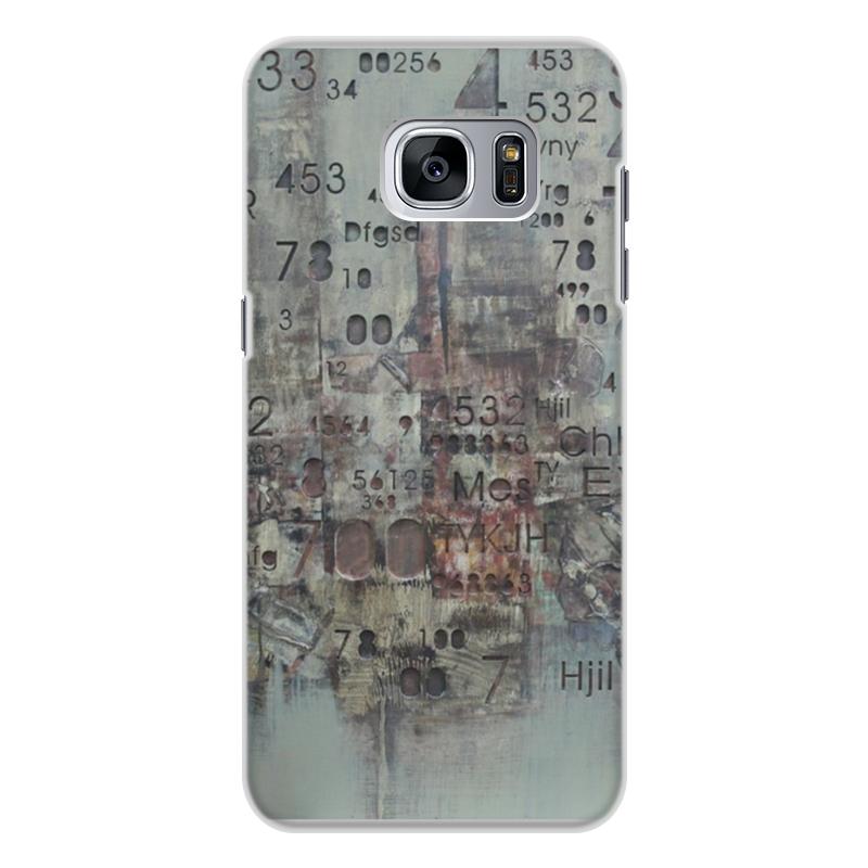 Чехол для Samsung Galaxy S7 Edge, объёмная печать Printio Цифры кейс для назначение ssamsung galaxy кейс для samsung galaxy ультратонкий кейс на заднюю панель сплошной цвет мягкий тпу для s7 edge s7