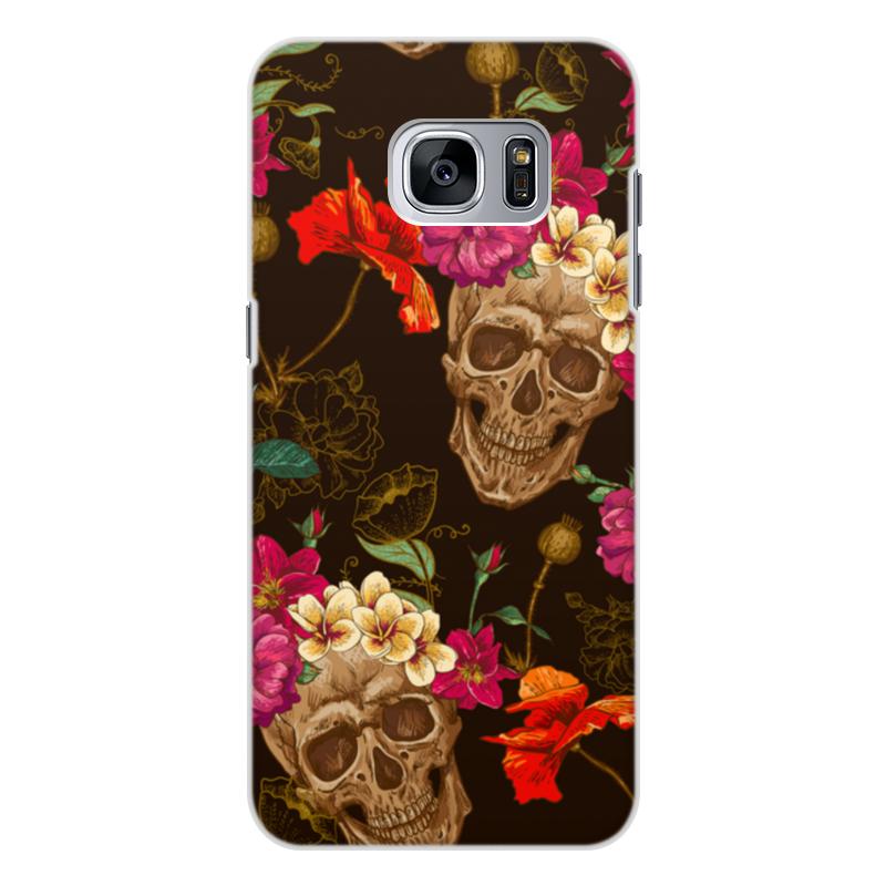 Чехол для Samsung Galaxy S7 Edge, объёмная печать Printio Череп