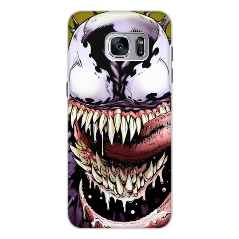 Чехол для Samsung Galaxy S7 Edge, объёмная печать Printio Веном (venom) кейс для назначение ssamsung galaxy кейс для samsung galaxy ультратонкий кейс на заднюю панель сплошной цвет мягкий тпу для s7 edge s7