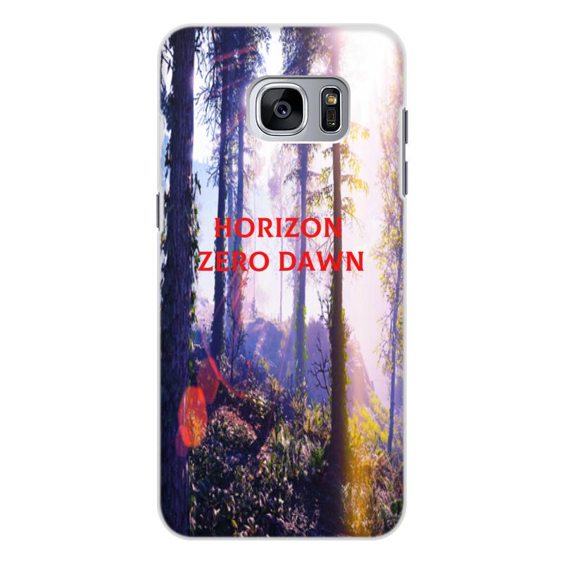 Чехол для Samsung Galaxy S7 Edge, объёмная печать Printio Horizon zero dawn кейс для назначение ssamsung galaxy кейс для samsung galaxy ультратонкий кейс на заднюю панель сплошной цвет мягкий тпу для s7 edge s7