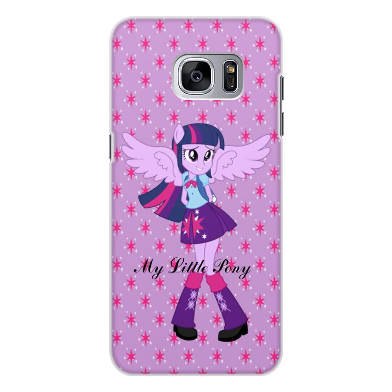 лучшая цена Чехол для Samsung Galaxy S7 Edge, объёмная печать Printio Искорка (девочки эквестрии)