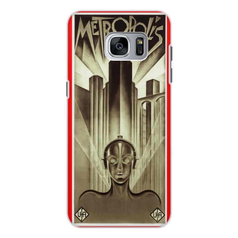 Чехол для Samsung Galaxy S7 Edge, объёмная печать Printio Афиша к фильму «метрополис», 1927 год для мам афиша