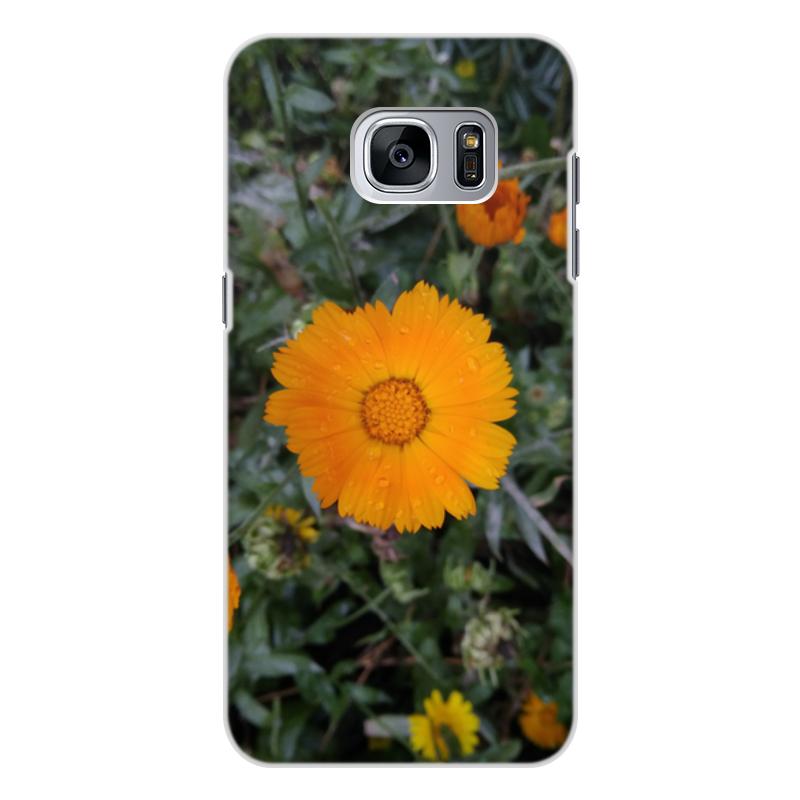 цена на Чехол для Samsung Galaxy S7 Edge, объёмная печать Printio Летние цветы