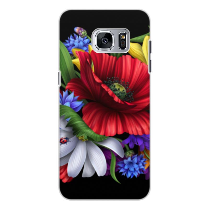 Чехол для Samsung Galaxy S7 Edge, объёмная печать Printio Композиция цветов композиция из цветов и конфет