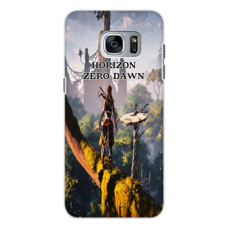 Чехол для Samsung Galaxy S7 Edge, объёмная печать Printio Horizon zero dawn samsung s view для samsung galaxy s7 edge gold