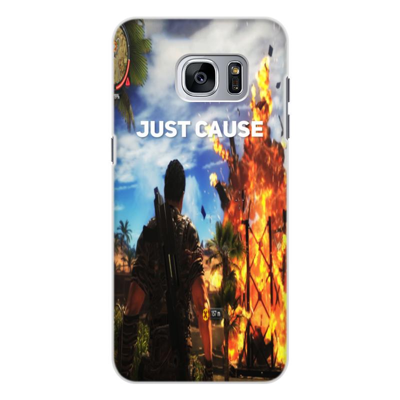 Чехол для Samsung Galaxy S7 Edge, объёмная печать Printio Just cause
