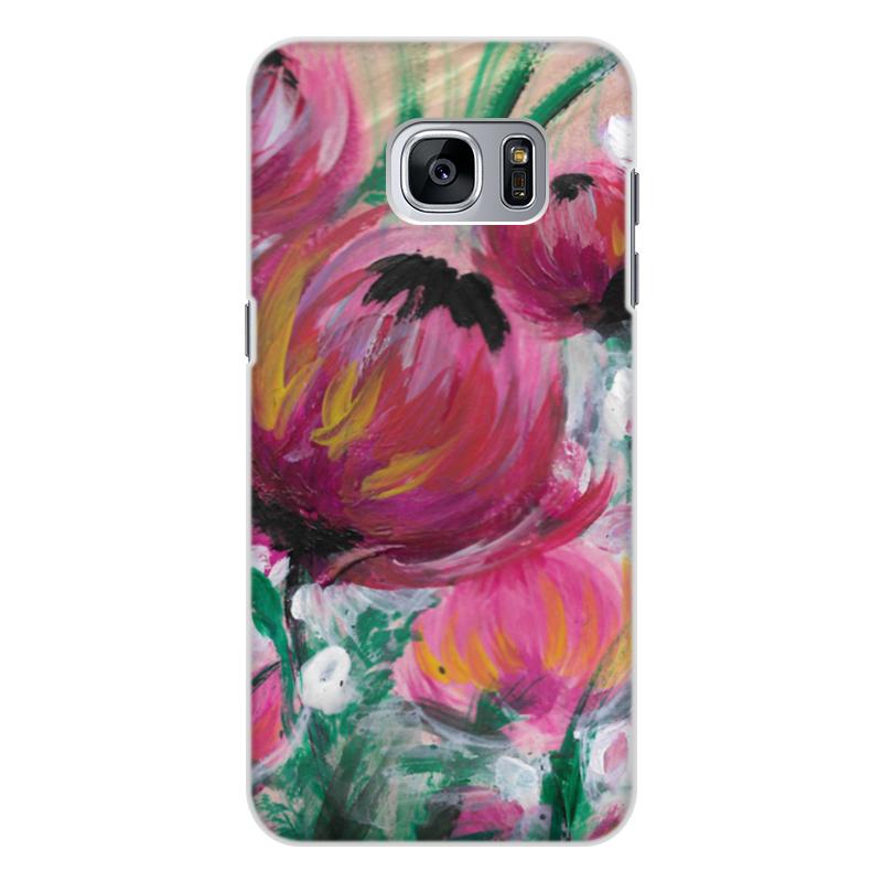 Чехол для Samsung Galaxy S7 Edge, объёмная печать Printio Полевые цветы чехол для ноутбука 12 printio чехол чехол чехол полевые цветы