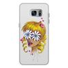 """Чехол для Samsung Galaxy S7 Edge, объёмная печать """"Без ума от цветов"""" - любовь, девушка, цветы, сердца, блондинка"""