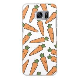 """Чехол для Samsung Galaxy S7 Edge, объёмная печать """"Морковки"""" - лето, веган, здоровье, морковь, овощи"""