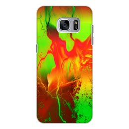 "Чехол для Samsung Galaxy S7 Edge, объёмная печать ""Пятна краски"" - узор, космос, пятна, краски, абстракция"