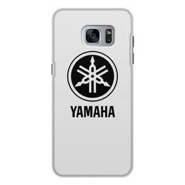 """Чехол для Samsung Galaxy S7 Edge, объёмная печать """"YAMAHA"""" - авто, машина, мото, yamaha, ямаха"""