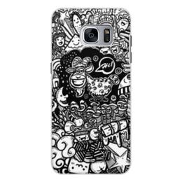 """Чехол для Samsung Galaxy S7 Edge, объёмная печать """"Иллюстрация"""" - звезда, люди, баран, ананас, козел"""
