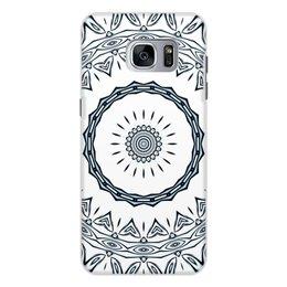 """Чехол для Samsung Galaxy S7 Edge, объёмная печать """"Барабан Альт"""" - музыка, белый, подарок, женщине, мужчине"""