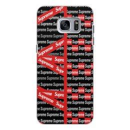 "Чехол для Samsung Galaxy S7 Edge, объёмная печать ""Supreme"" - надписи, бренд, brand, supreme, суприм"