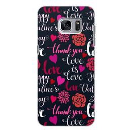 """Чехол для Samsung Galaxy S7 Edge, объёмная печать """"День Св. Валентина"""" - любовь, сердца, валентинка, день св валентина"""