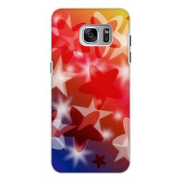 """Чехол для Samsung Galaxy S7 Edge, объёмная печать """"Веселые звездочки"""" - звезда, яркий, оригинальный, веселый, цветной"""