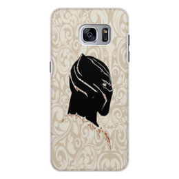 "Чехол для Samsung Galaxy S7 Edge, объёмная печать ""Black Panther"" - пантера, марвел, black panther, чёрная пантера, супергерой пантера"