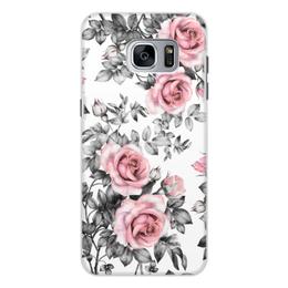 """Чехол для Samsung Galaxy S7 Edge, объёмная печать """"Цветы"""" - цветы, розы"""
