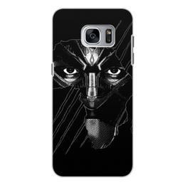 """Чехол для Samsung Galaxy S7 Edge, объёмная печать """"Чёрная пантера"""" - marvel, мстители, марвел, черная пантера, black panther"""