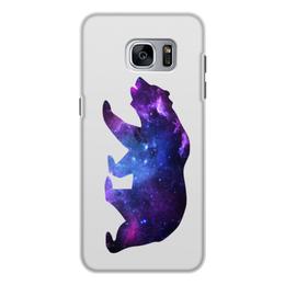 """Чехол для Samsung Galaxy S7 Edge, объёмная печать """"Space animals"""" - space, bear, медведь, космос, астрономия"""