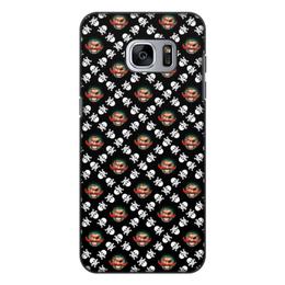 """Чехол для Samsung Galaxy S7 Edge, объёмная печать """"Бармалей"""" - череп, пираты, кости, пират, бармалей"""