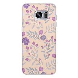 """Чехол для Samsung Galaxy S7 Edge, объёмная печать """"цветы"""" - лето, цветы, узор, природа, цветочки"""